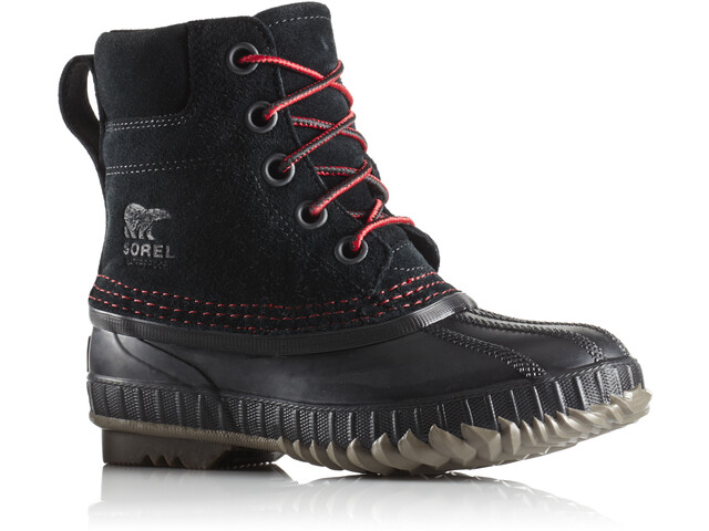 Sorel Cheyanne II Lace Bottes Enfant, black/mountain red